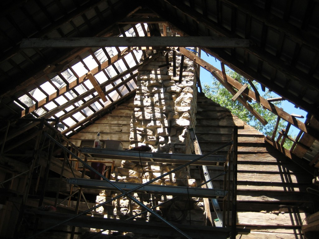 The partially-removed roof with gorgeous shadows