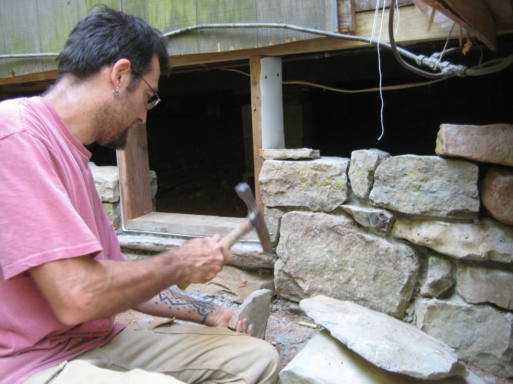 Willy Rosencrans, who taught us all the art of stone masonry.