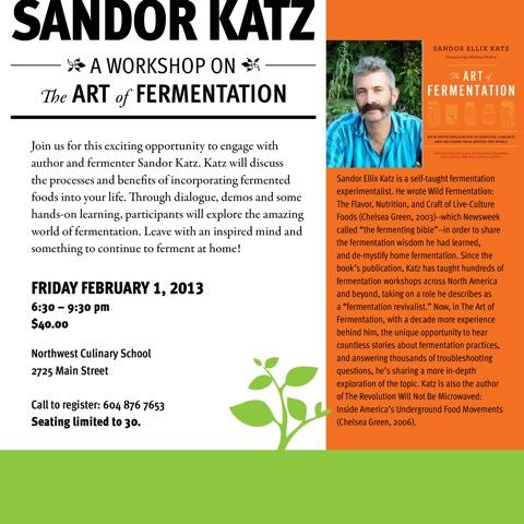 Sandor Katz flyer