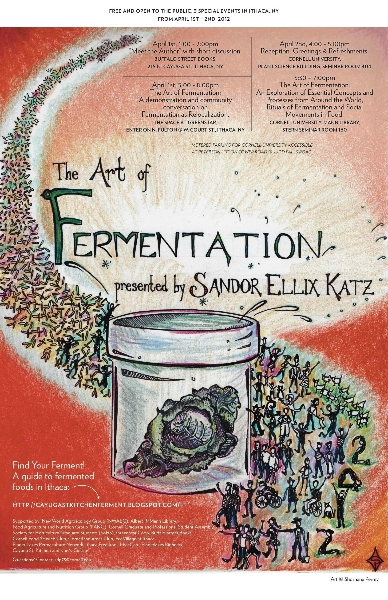Fermentation in Ithaca poster by Shoshona Perry