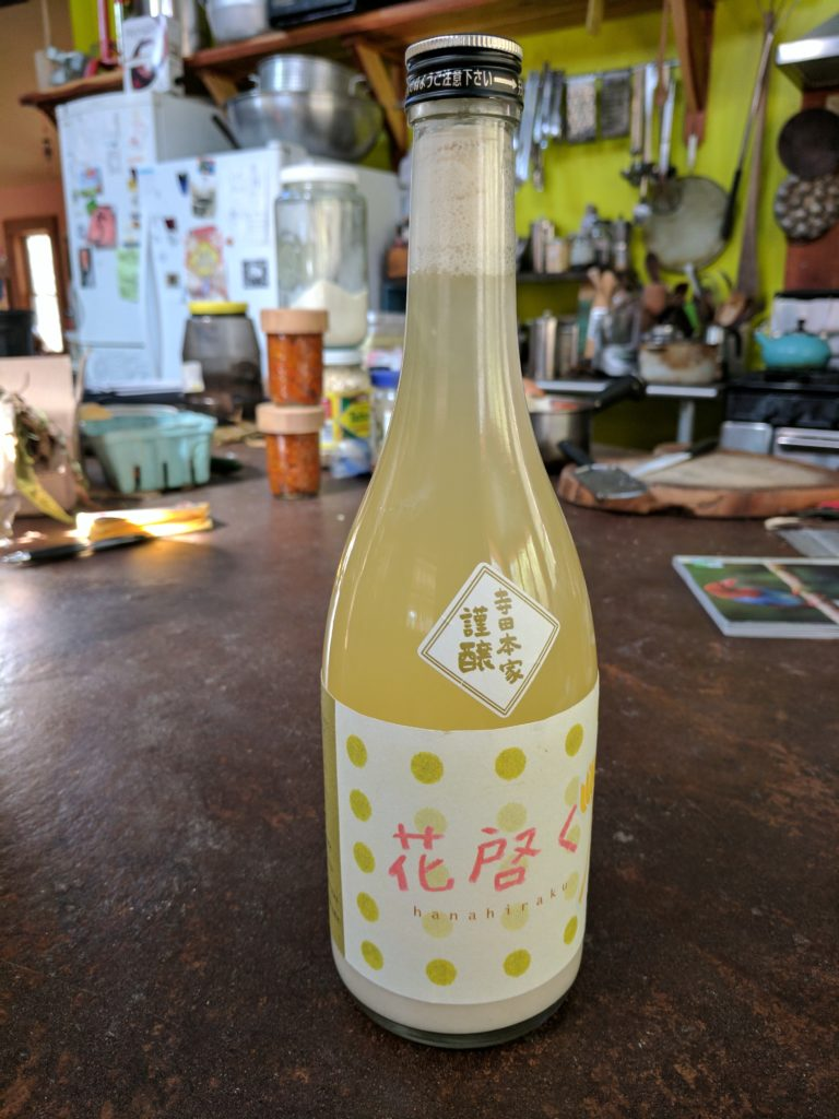 Saké brewed at home in two weeks without any special equipment. In a bottle from Terada Honke Brewery, where i was told about this method, Bodai Moto-Zukuri.